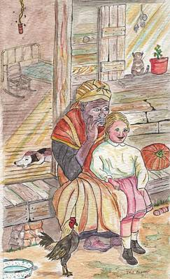 Painting - Taking Care Of The Owners Little Daughter by Philip Bracco