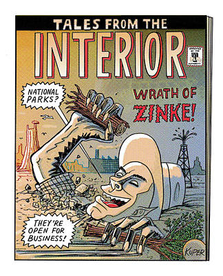 Drawing - Tales From The Interior by Peter Kuper
