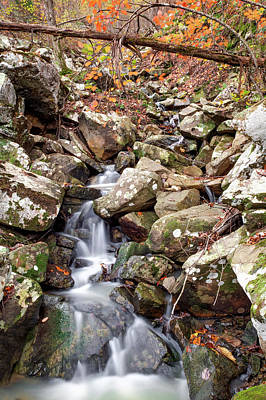 Photograph - Talimena Drive Waterfall - Oklahoma Ouachita Mountains by Gregory Ballos