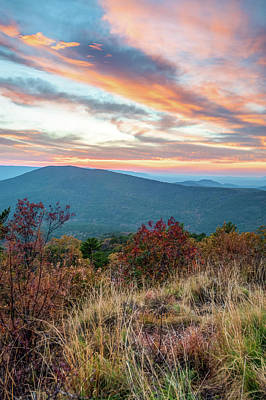 Photograph - Talimena Mountain Landscape Sunset - Oklahoma Arkansas Byway  by Gregory Ballos