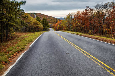Photograph - Talimena Scenic Drive Through Autumn Ouachita Mountain Landscapes by Gregory Ballos