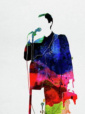 Rock Band Wall Art - Digital Art - Talking Heads Watercolor by Naxart Studio