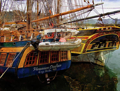 Photograph - Tall Ships In Port by Thom Zehrfeld