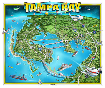 Digital Art - Tampa Bay 2019 by Scott Ross