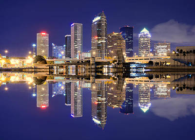 Cityscape Photograph - Tampa Bay Skyline by Sean Pavone