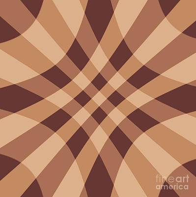 Digital Art - Tan Brown Crosshatch By Delynn Addams For Home Decor by Delynn Addams