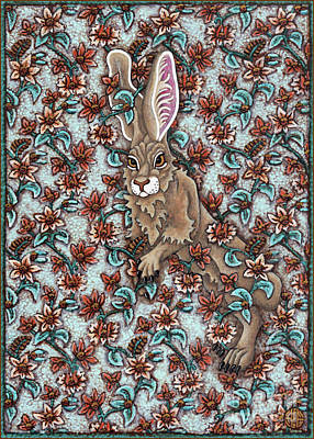 Painting - Tangled Hare 5 by Amy E Fraser