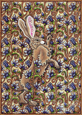 Painting - Tangled Hare 6 by Amy E Fraser