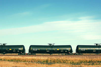 Photograph - Tank Car Row by Todd Klassy