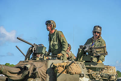 Photograph - Tank Commander And Gunner by Tom Claud