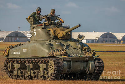 Photograph - Tank Crew Awaits by Tom Claud