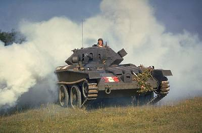 Photograph - Tank In Action by Fox Photos