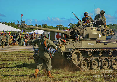 Photograph - Tank Maneuvers by Tom Claud
