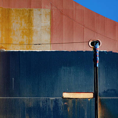 Tanker Wall Art - Photograph - Tanker In Dry Dock by Carol Leigh