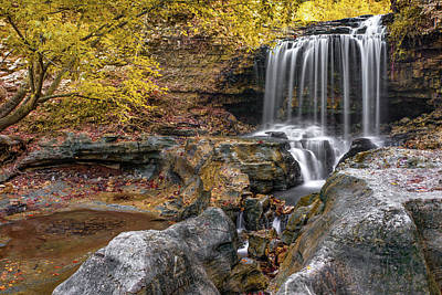 Photograph - Tanyard Creek Waterfall - Bella Vista Arkansas  by Gregory Ballos