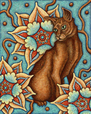 Painting - Tapestry Cat by Amy E Fraser