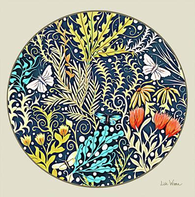 Tapestry Design Button Art Print
