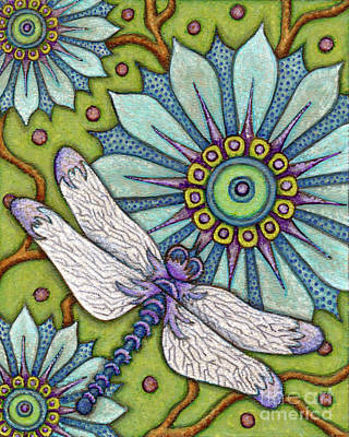 Painting - Tapestry Dragonfly by Amy E Fraser