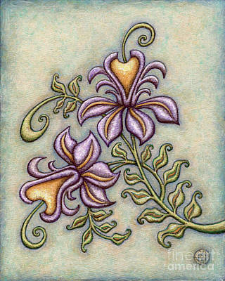 Painting - Tapestry Flower 8 by Amy E Fraser