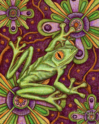 Painting - Tapestry Frog by Amy E Fraser