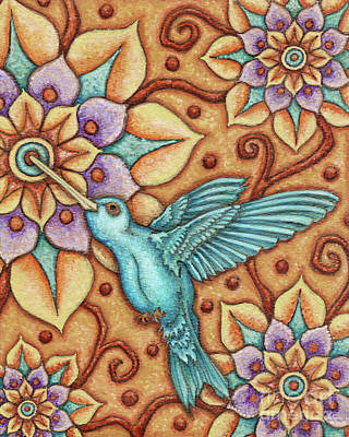 Painting - Tapestry Hummingbird by Amy E Fraser