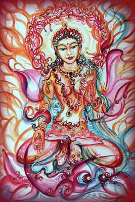 Painting - Tara - Goddess Of Bliss And Healing  by Harsh Malik