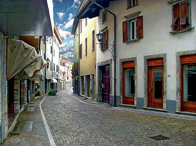 Photograph - Tarcento Street Scene by Anthony Dezenzio
