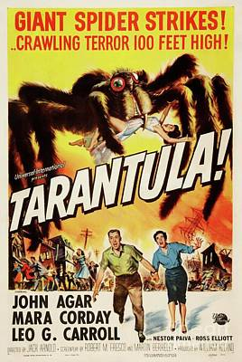 Science Fiction Drawings - Tarentula movie poster by Restored archives
