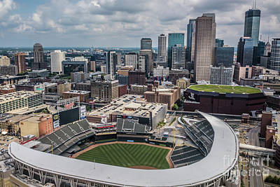 Photograph - Target Field And The City by Habashy Photography