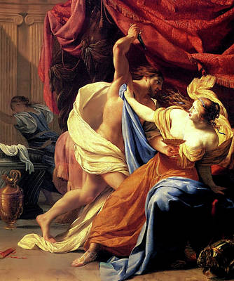 Painting - Tarquin And Lucretia  by Simon Vouet