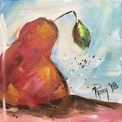 Contemporary Painting - Tasty Pear by Roxy Rich