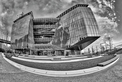 Photograph - Tata Innovation Center Nyc Bw by Susan Candelario