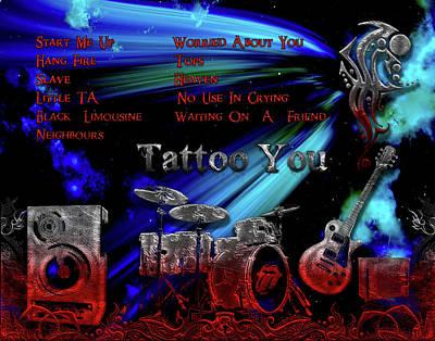 Digital Art - Tattoo You by Michael Damiani
