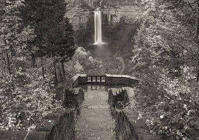 Photograph - Taughannock Falls In Black And White by Dan Sproul