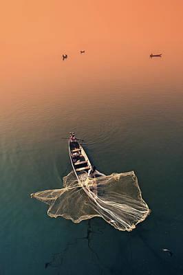 Photograph - Taungthaman Lake by Marji Lang