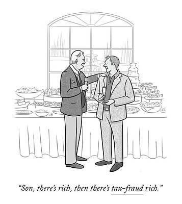 Drawing - Tax Fraud Rich by Lila Ash