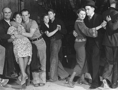 Photograph - Taxi Dancers In A Saloon Fr. Life Magazi by Margaret Bourke-white