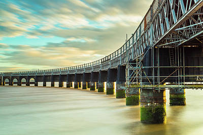 Photograph - Tay Rail Bridge 2 by Diarmid Weir