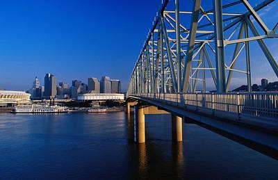 Ohio Photograph - Taylor-southgate Bridge On Ohio River by Richard I'anson