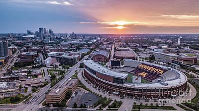 Photograph - Tcf Bank Stadium At Sunset by Habashy Photography