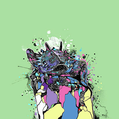 Digital Art - Tcu Horned Frog Fort Worth Pop Art by Bekim Art