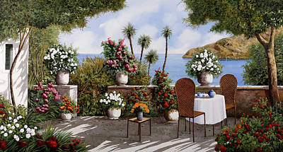Short Story Illustrations Royalty Free Images - Te In Terrazza Royalty-Free Image by Guido Borelli