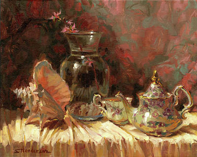 Painting Rights Managed Images - Tea by the Sea Royalty-Free Image by Steve Henderson