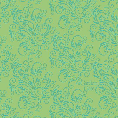 Digital Art - Teal Green Fern Pattern by Garden Gate magazine