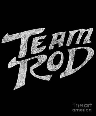 Digital Art - Team Rod Vintage Black by Flippin Sweet Gear