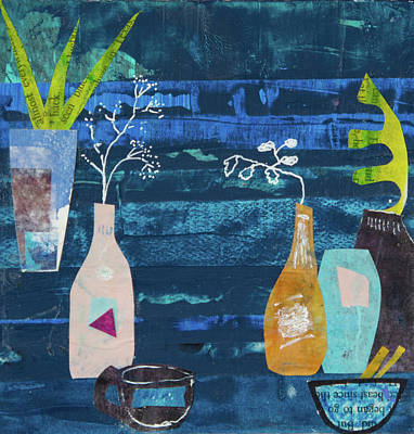 Mixed Media - Teatime One by Paper Jewels By Julia Malakoff