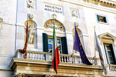 Photograph - Teatro La Fenice Facade Venice by John Rizzuto