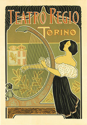 Painting - Teatro Regio Vintage French Advertising by Vintage French Advertising