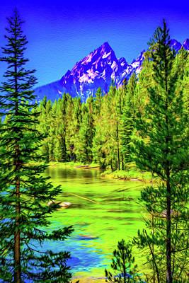 Music Figurative Potraits - Technicolor Lake by Aaron Geraud