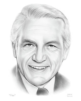 Drawing - Ted by Greg Joens